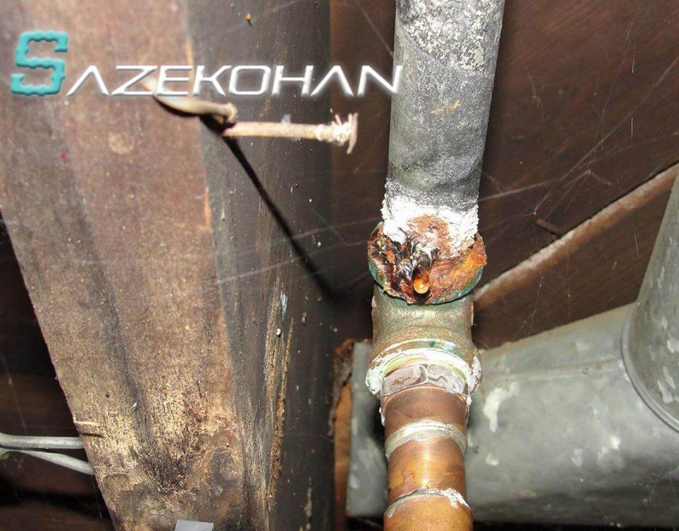 لوله کشی گاز صنعتی ساختمان خانگی - 12 - تشخیص ترکیدگی و نشتی لوله
