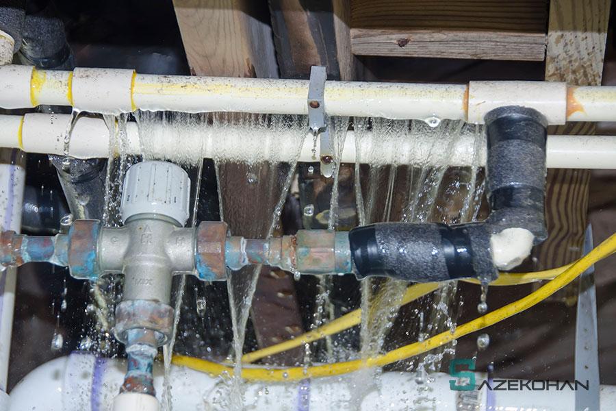 تشخیص ترکیدگی لوله - لوله کشی گاز - تاسیسات ساختمان - لوله کشی گاز خانگی- لوله کشی ساختمان