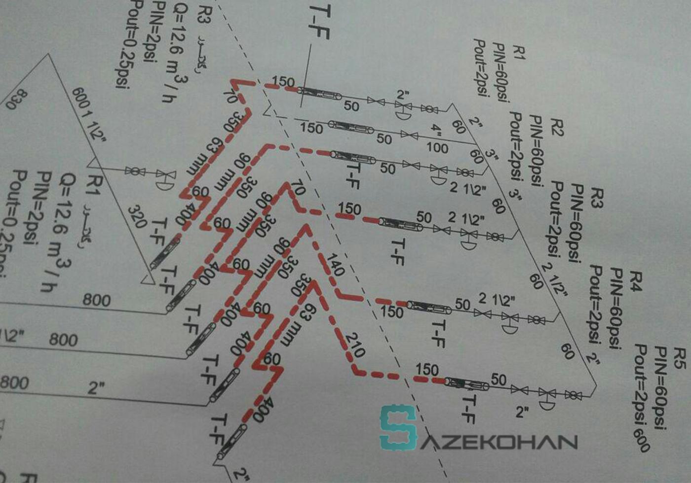 طراحی مسیر و جوشکاری لوله گاز