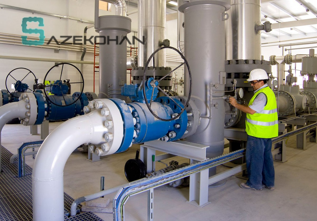 لوله کشی گاز صنعتی1