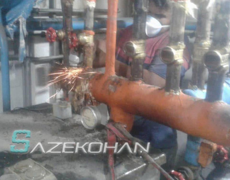 لوله کشی گاز صنعتی ساختمان خانگی - 1 - لوله کشی ساختمان پروژه دربند
