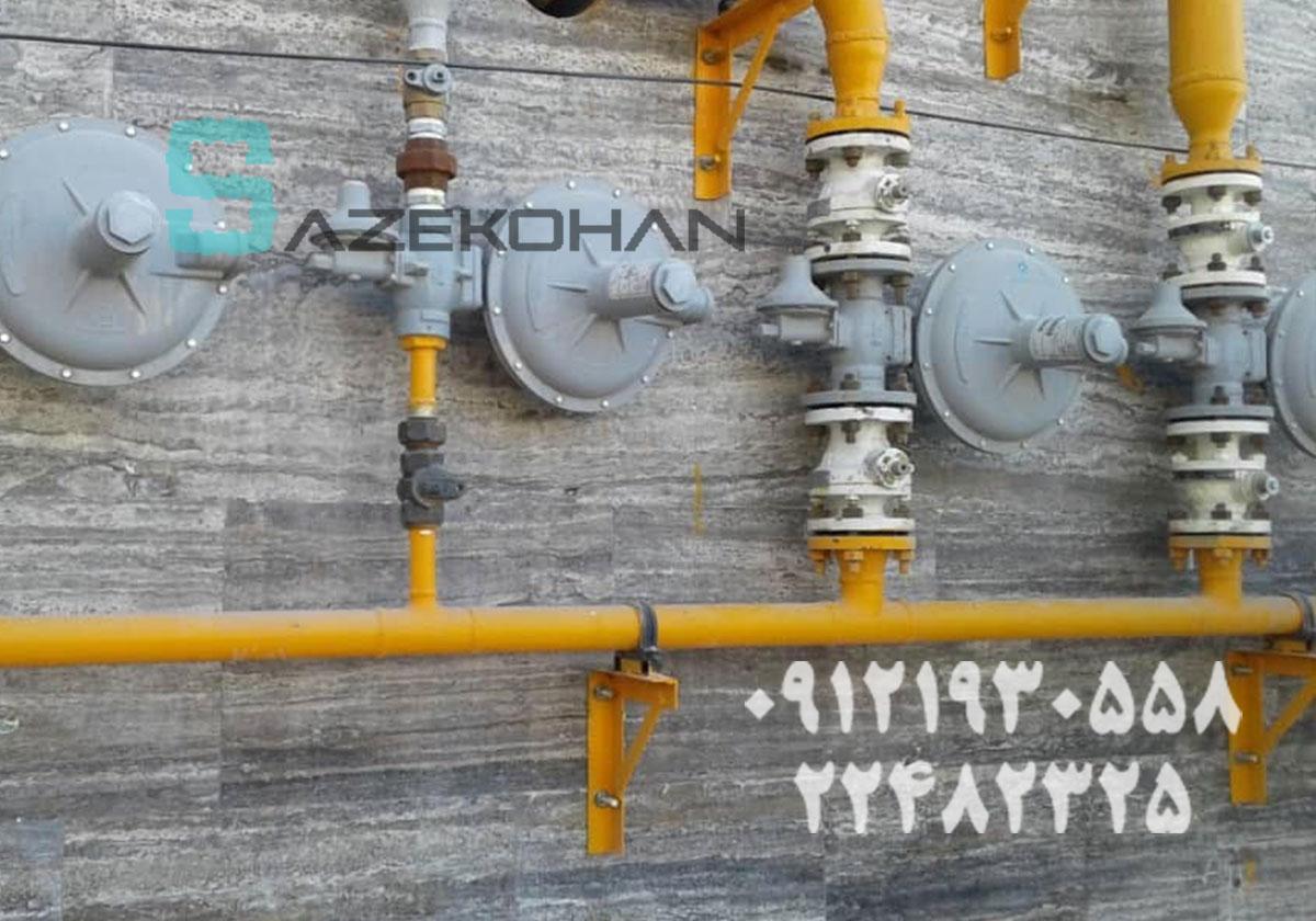 لوله کشی گاز بانک پاسارگاد