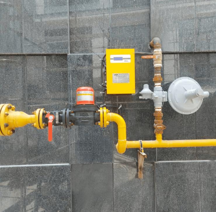 لوله کشی گاز ساختمان